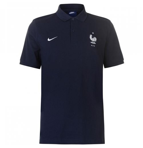 2018-2019 France Nike Core Polo Shirt (Obsidian)
