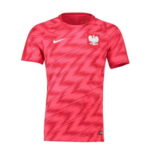 Buy Official 2018-2019 Poland Nike Pre-Match Training Shirt (Red) 3c8e4e368
