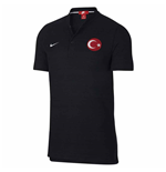 2018-2019 Turkey Nike Authentic Franchise Grand Slam Polo Shirt (Black)