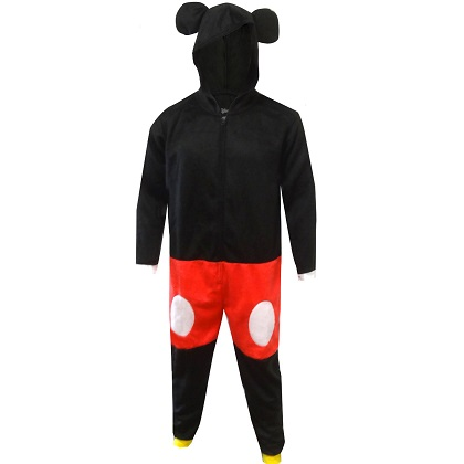 Mickey Mouse Costume Men's Union Suit Pajamas