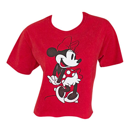 Minnie Mouse Classic Women's Red Crop Top T-Shirt
