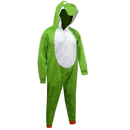 Super Mario Bros. Yoshi Costume Men's Union Suit Pajamas