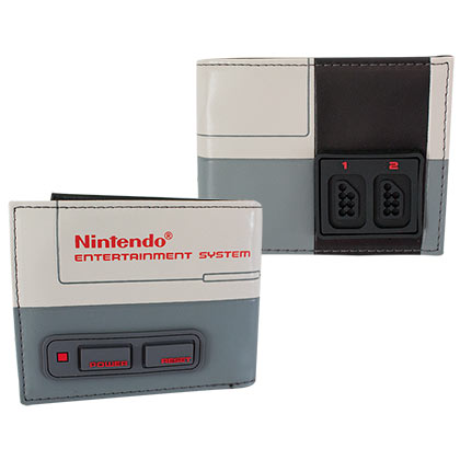 NINTENDO Classic NES 3-D Raised Buttons Wallet
