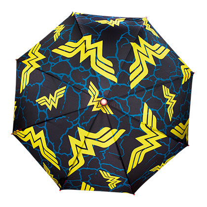 WONDER WOMAN LED Light Up Navy Blue Umbrella