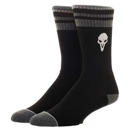 OVERWATCH Reaper Logo Men's Black Crew Socks