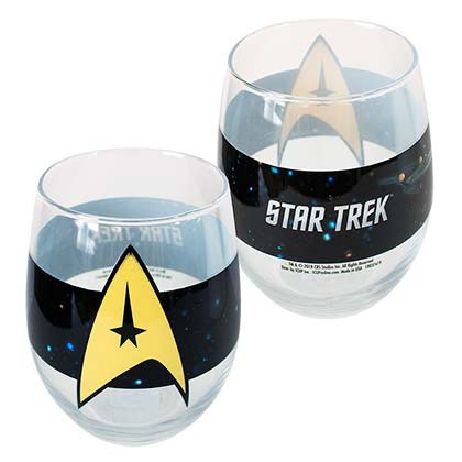 STAR TREK Oval 21oz Glass