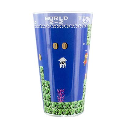 Super MARIO Bros. Water Level Beer Drinking Glass