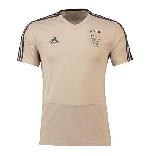 diseño atemporal 8346d 85703 2018-2019 Ajax Adidas Training Shirt (Raw Gold)
