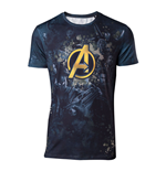 MARVEL COMICS Avengers: Infinity War Men's Team Sublimation Print T-Shirt, Medium, Multi-colour