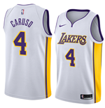 Men's Los Angeles Lakers Alex Caruso Nike Association Edition Replica Jersey