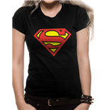 Superman - Logo - Women Fitted T-shirt Black