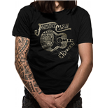 Johnny Cash - Guitar Text - Unisex T-shirt Black