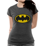 Batman - Logo On Heather Grey - Women Fitted T-shirt Grey