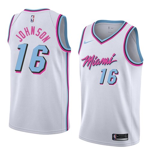 online retailer 69970 8ba43 Men's Miami Heat James Johnson Nike City Edition Replica Jersey