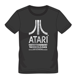 ATARI Male Entertainment Technologies Logo T-Shirt, Small, Black