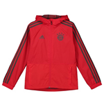 2018-2019 Bayern Munich Adidas Rain Jacket (Red) - Kids