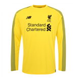 2018-2019 Liverpool Home Long Sleeve Goalkeeper Shirt (Kids)