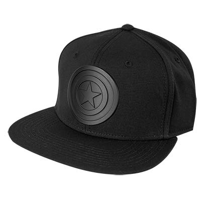 CAPTAIN AMERICA Black On Black Men's Baseball Hat