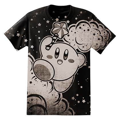NINTENDO Kirby Clouds Men's Black TShirt
