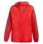 2018-2019 Bayern Munich Adidas Rain Jacket (Red)