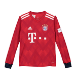 2018-2019 Bayern Munich Adidas Home Long Sleeve Shirt (Kids)