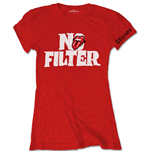 The Rolling Stones Ladies Tee: No Filter Header Logo