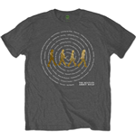 The Beatles Mens Tee: Abbey Road Songs Swirl