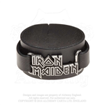 Iron Maiden Leather Wrist Strap: Logo