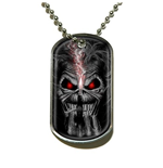Iron Maiden Dog Tag Pendant: Eddie Candle Finger