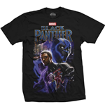 Marvel Comics Men's Tee: Black Panther Montage