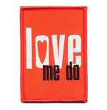 The Beatles Standard Patch: Love me do (Iron On)