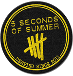 5 Seconds of Summer Standard Patch: Derping Stamp