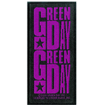 Green Day Standard Patch: Purple Logo (Packed)
