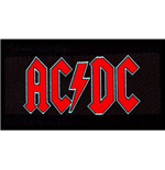 AC/DC Standard Patch: Red Logo (Loose)