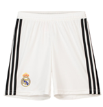 2018-2019 Real Madrid Adidas Home Shorts (White) - Kids