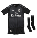 2018-2019 Real Madrid Adidas Home Goalkeeper Full Kit (Kids)