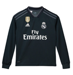 2018-2019 Real Madrid Adidas Away Long Sleeve Shirt (Kids)