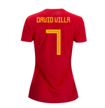 2018-2019 Spain Home Adidas Womens Shirt (David VIlla 7)