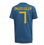 2018-19 Spain Training Shirt (David VIlla 7)