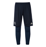 2018-2019 Real Madrid Adidas Training 2 in 1 Shorts (Dark Grey)