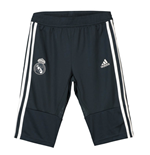 2018-2019 Real Madrid Adidas Three Quarter Length Pants (Dark Grey) - Kids