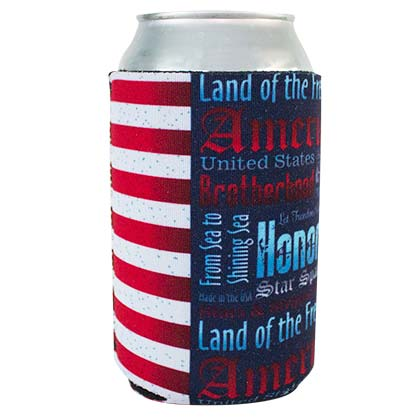 PATRIOTIC USA American Quotes Can Cooler
