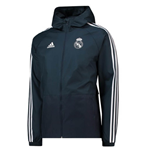 2018-2019 Real Madrid Adidas Training Rain Jacket (Dark Grey)