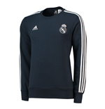2018-2019 Real Madrid Adidas Sweat Top (Dark Grey)