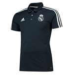 2018-2019 Real Madrid Adidas Polo Shirt (Dark Grey)