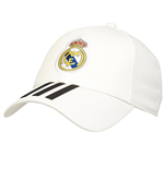 2018-2019 Real Madrid Adidas 3 Stripe Baseball Cap (White)