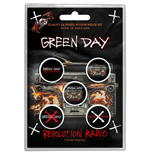 Green Day Button Badge Pack: Revolution Radio