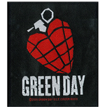 Green Day Standard Patch: Heart Grenade (Loose)
