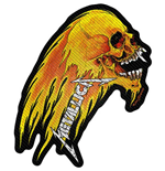 Metallica Standard Patch: Flaming Skull Cut-Out (Loose)
