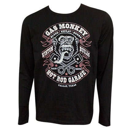 Gas Monkey Hot Rod Garage Blood Sweat and Beer Long Sleeve Shirt